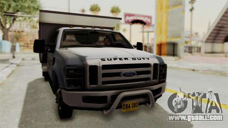 Ford F-350 Super Duty Volqueta for GTA San Andreas right view