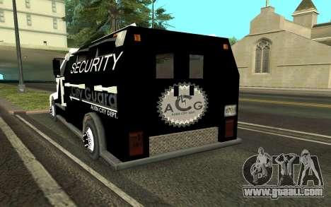 Van collectors for GTA San Andreas back left view