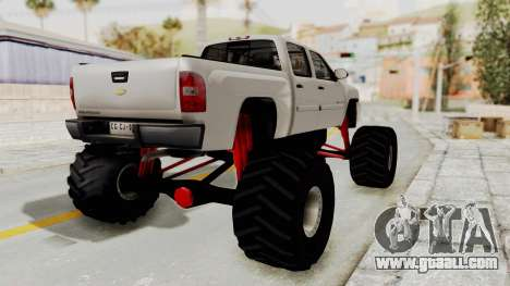 Chevrolet Silverado 2011 Monster Truck for GTA San Andreas left view
