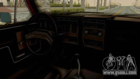 Ford Bronco 1985 Lifted for GTA San Andreas inner view