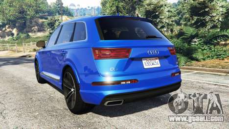 GTA 5 Audi Q7 2015 [rims2] rear left side view