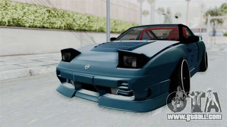 Nissan 180SX BETA for GTA San Andreas back left view