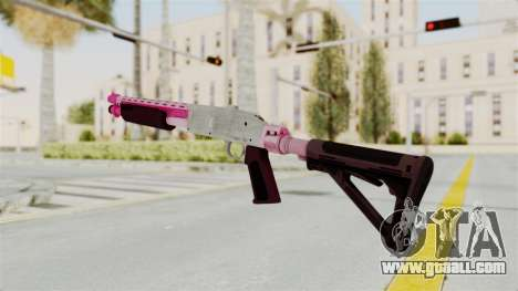 GTA 5 Pump Shotgun Pink for GTA San Andreas second screenshot