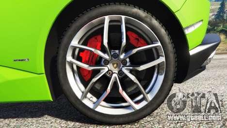 GTA 5 Lamborghini Huracan LP 610-4 2016 steering wheel