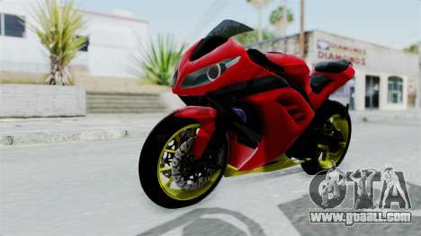 Kawasaki Ninja 250FI Anak Jalanan for GTA San Andreas right view