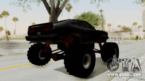 Ford Mustang King Cobra 1978 Monster Truck for GTA San Andreas back left view