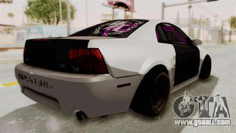 Ford Mustang 1999 Drift for GTA San Andreas back left view