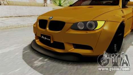 BMW M3 E92 Liberty Walk for GTA San Andreas upper view
