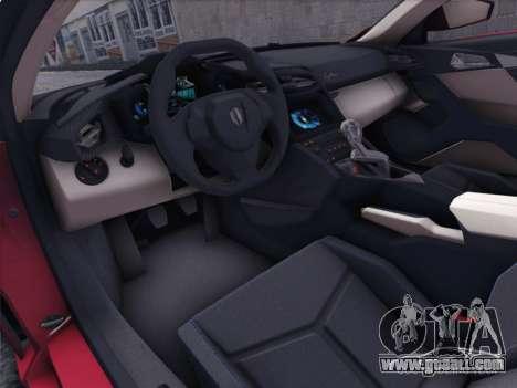 W Motors Lykan Hypersport 2015 HQ for GTA San Andreas right view