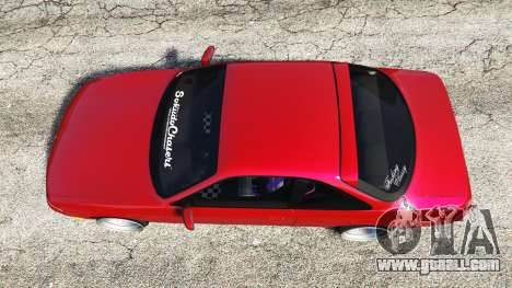 GTA 5 Nissan Silvia S14 Zenki Stance back view