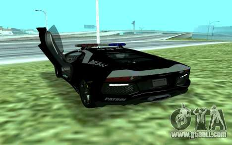 Lamborghini Reventon Police for GTA San Andreas back left view