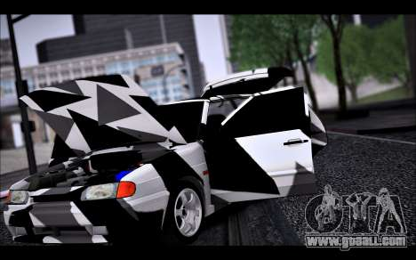 VAZ 2114 Triangle for GTA San Andreas upper view