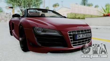 Audi R8 Spyder 2014 LB Work for GTA San Andreas