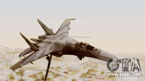 SU-27 Hydra for GTA San Andreas back left view