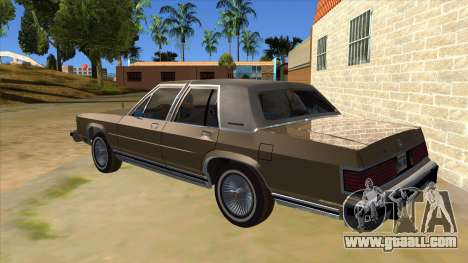 Mercury Grand Marquis 1986 v1.0 for GTA San Andreas back left view