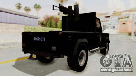 Land Rover Defender SAJ for GTA San Andreas back left view