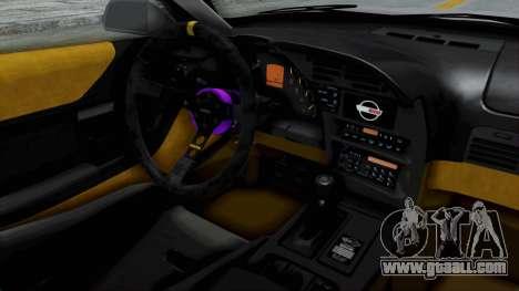 Chevrolet Corvette C4 Drift for GTA San Andreas inner view