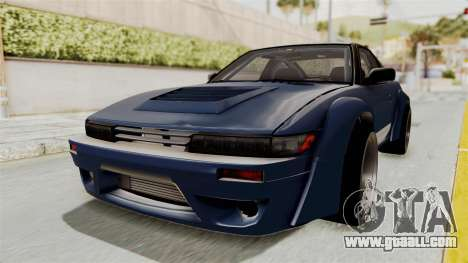 Nissan Silvia Sil80 for GTA San Andreas back left view