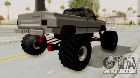 Chevrolet Silverado Classic 1985 Monster Truck for GTA San Andreas back left view
