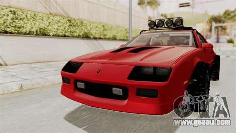 Chevrolet Camaro 1990 IROC-Z Rusty Rebel for GTA San Andreas right view