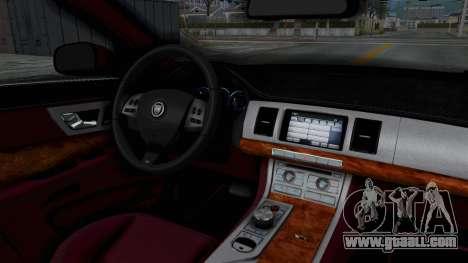 Jaguar XJ 2010 for GTA San Andreas inner view