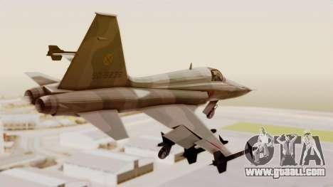 Northrop F-5E Tiger II JASDF for GTA San Andreas left view