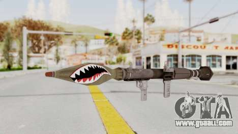 GTA 5 Rocket Launcher Shark mouth for GTA San Andreas second screenshot