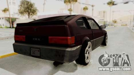 Blista CRX for GTA San Andreas back left view