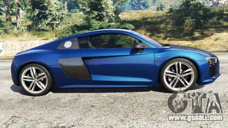 GTA 5 Audi R8 V10 Plus 2015 left side view