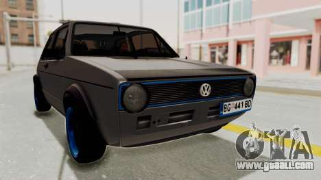 Volkswagen Golf 1 for GTA San Andreas right view