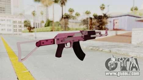 Assault Rifle Pink for GTA San Andreas third screenshot