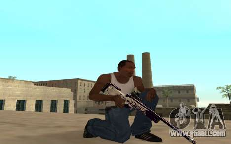 Purple fire weapon pack for GTA San Andreas