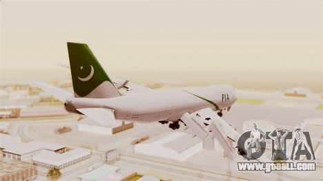 Boeing 747-200 Pakistan International for GTA San Andreas left view