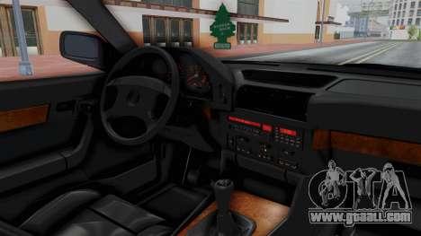 BMW 525i E34 1994 SA Plate for GTA San Andreas inner view