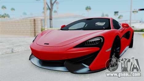 McLaren 570S 2016 for GTA San Andreas back left view