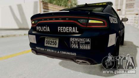Dodge Charger RT 2016 Federal Police for GTA San Andreas interior