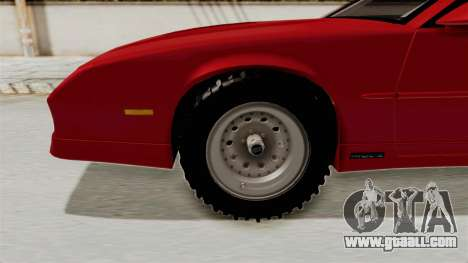 Chevrolet Camaro 1990 IROC-Z Rusty Rebel for GTA San Andreas back view