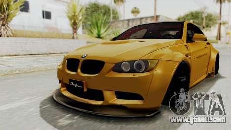 BMW M3 E92 Liberty Walk for GTA San Andreas back left view