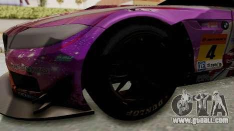 BMW Z4 GT3 Tobisawa Misaki for GTA San Andreas back view