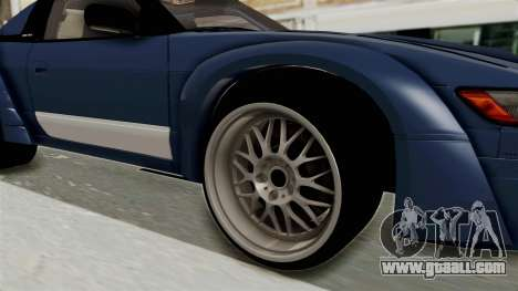 Nissan Silvia Sil80 for GTA San Andreas back view