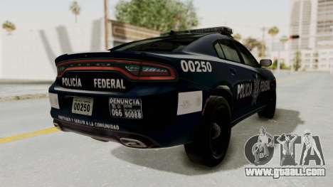 Dodge Charger RT 2016 Federal Police for GTA San Andreas back left view