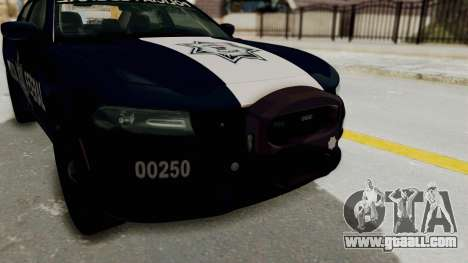 Dodge Charger RT 2016 Federal Police for GTA San Andreas side view
