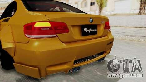 BMW M3 E92 Liberty Walk for GTA San Andreas interior