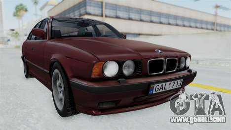 BMW 525i E34 1994 LT Plate for GTA San Andreas back left view