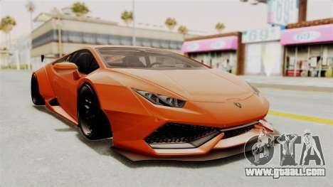 Lamborghini Huracan Libertywalk Kato Design for GTA San Andreas back left view