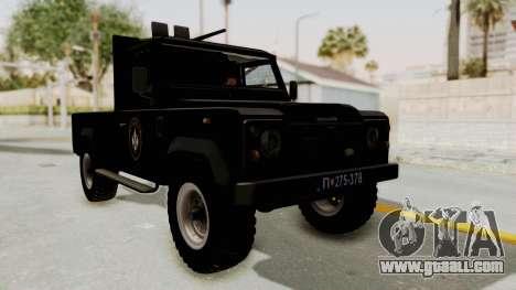 Land Rover Defender SAJ for GTA San Andreas right view