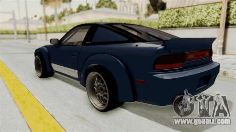 Nissan Silvia Sil80 for GTA San Andreas left view