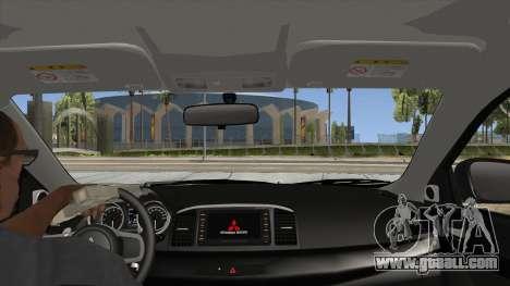 Mitsubishi Lancer Evolution X PDRM for GTA San Andreas inner view