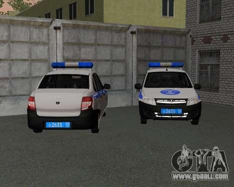 Lada Granta Private security for GTA San Andreas left view