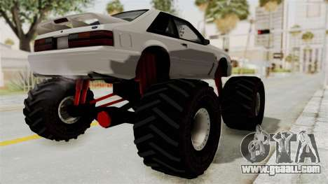 Ford Mustang 1991 Monster Truck for GTA San Andreas back left view